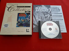 Star Wars Rebel Assault Lucas Arti PC Cd-rom Fat Big Box Cofanetto Completo