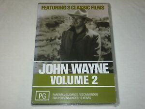 John Wayne - Volume 2 - 3 Classic Films - Brand New & Sealed - Region 4 - DVD