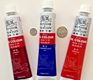 Winsor and Newton Fine oil paint colour 170ml tubes; new artists oil colours