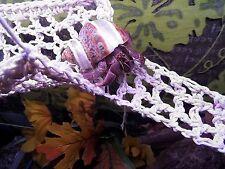 Hermit Crab Climbing Net 20 GAL Hammock & Ladder Add Level 100% Cotton (Natural)