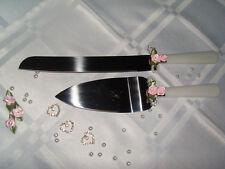 SET/  Tortenmesser plus Tortenheber Tortenbesteck Hochzeitstorte Kuchen Rosa