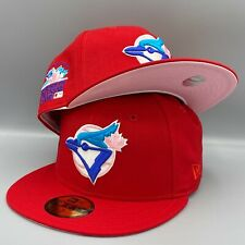 Toronto Blue Jays 1991 All Star Game New Era 59FIFTY Fitted Red Hat Pink Bottom