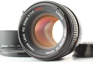 [MINT] Canon FD 50mm f/1.4 S.s.C. SSC MF Standard Lens w/ hood From JAPAN