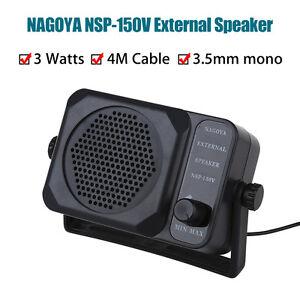 Nagoya NSP 150V External SPEAKER For Ham CB Communication 2 way Radio 3.5mm Jack