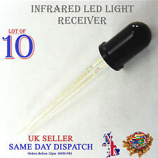 10x 940nm Infrared LED Receiver Black 5mm IR High Power Lamp