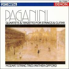 Paganini Quartets & Terzetto for Strings & Guitar; 1991 CD, Mozart String PROMO