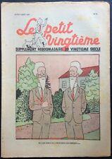 TINTIN THE Petit Vingtième n°31 du 3 august 1939 Good condition