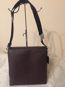 COACH CHARLES SMALL MESSENGER MAHOGANY