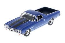 1970 Chevy El Camino SS 396 Hardtop Blue 1:24 Diecast Car Motormax 79347
