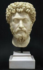 """Marcus Aurelius Roman Emperor Sculpture bust Museum Replica Reproduction 21.5"""""""