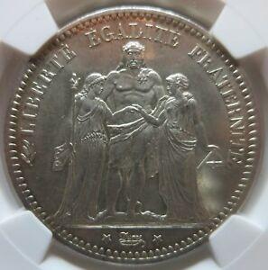 FRANCE 5 francs 1873 A NGC MS 63 UNC superb Patina