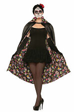 DAY OF THE DEAD ADULT CAPE FANCY DRESS HALLOWEEN ONE SIZE ACCESSORY