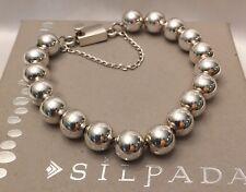 Silpada Sterling Silver 10mm  Bead Bracelet Box Clasp B0471 *MINT IN SILPADA BOX