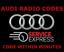 AUDI RADIO CODE RNS-E CHORUS SYMPHONY CONCERT FAST SERVICE 30 MINUTES