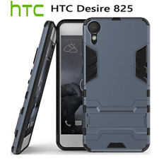 For HTC Desire 825 Semi-Hard TPU Armor Gel Kick Stand Back Case Cover Protector