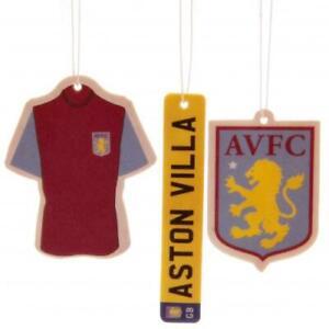 Aston Villa Football Club FC 3Pk Triple Car Air Freshener Freshner AVFC EPL