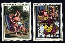 FRANCIA - Quadri di Francia - 1963 - Opere d'arte - Delacroix, Vetr. di Conches