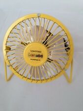 Portable Mini USB Powered Desktop Cooling Desk Fan Computer Laptop Metal Yellow