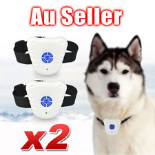2x Bark Stop Pet Dog Training Collar Ultrasonic Anti Barking Control