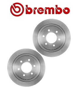 NEW For Ford Lincoln Pair Set of 2 Rear Vented Disc Brake Rotors 6 Lug Brembo