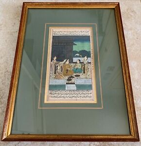 ANTIQUE INDIAN OPAQUE /GOUACHE WATERCOLOR PAINTING ON PAPER