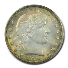 1909 50C Barber Half Dollar PCGS MS65