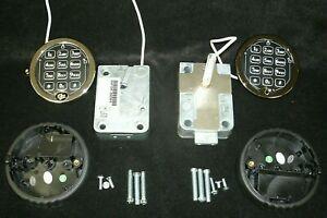 Lot of 2 S&G Titan Direct Drive Elec Keypad Combo Safe Locks-Take Off's New