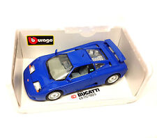 Burago 1/18 Detailed BUGATTI EB119 1991 diecast car model with box, fast need