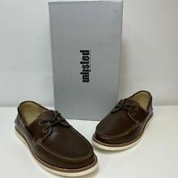 Unlisted by Kenneth Cole Santon Brown Mens Fabric Round Toe Boat Shoes Size 10
