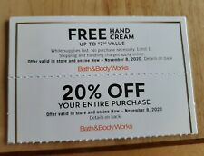 Bath and Body Works Coupons {2} - Gift & 20% off purchase - Expires 11/8/2020