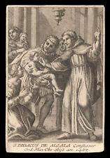 santino incisione 1700 S.DIEGO D'ALCALA'