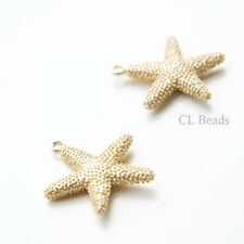 1 Piece Premium Matte Gold Plated Base Metal Charm- Star Fish 25x24mm 135C-R-161