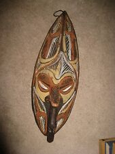 Carved & Painted Wood Sepik River Papua NG Mask Figure & Duck Like a Decoy!!