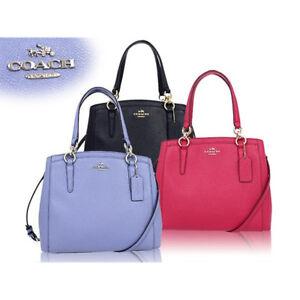 NWT Coach 57847 Minetta Crossgrain Leather Handbag  Bright Pink