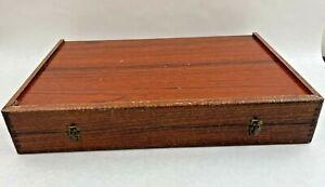 Ancienne Grande Boite à Jeu Backgammon en Bois