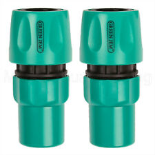 2 X HOSE PIPE FEMALE CONNECTOR PLASTIC QUICK FIX CLICK GOOD QUALITY WATER-STOP