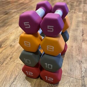 Dumbbells Cap Hex Neoprene & Rubber coated *pick your own bundle* Quick&FreeShip