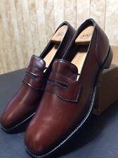 Vintage Cole Haan Men's Shoes NOS Brown Loafers V-cleat Heel Sz 12C