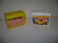 Vintage 1989 Fisher Price Cake Mix & Macaroni & Cheese Box Container RARE