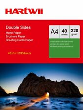 Hartwii 100Sheets +20 Free  A4 220Gsm Matte Coated Double Sided Photo Paper