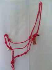 Red 4 Knot Professional Horse Training SidePull Bitless Bridle Rope Halter Rings