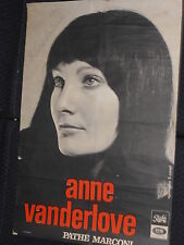 ANNE VANDERLOVE DISQUES PATHE RARE AFFICHE SIGNEE FRENCH POSTER ORIGINAL SIGNED