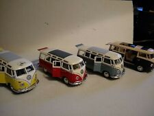 Maisto Special Edition 1:25 scale Volkswagen Samba Van Lot.(3 Maisto (1 Unknown