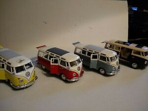 Lot of 4 Maisto Special Edition 1:25 scale Volkswagen Samba Van (3 Maisto (1) ?