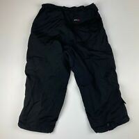 Schott NYC ATTR50 Black 3/4 Length Loose Cargo Shorts Baggy 90s poly cotton