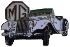 MG TF car cut out lapel pin - White body