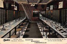 Postcard Interior Martins Gloves Hosiery Umbrellas in Seattle, Washington~114316
