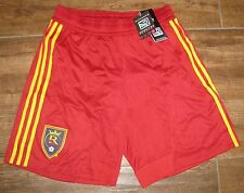ADIDAS RSL REAL SALT LAKE M SHORTS CLIMACOOL LINED MLS RED COMPETITION PRODUCT