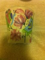 YANKEE CANDLE--VOTIVE CANDLE HOLDER--FLORAL--BUTTERFLY--FREE SHIP--NEW