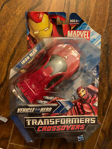 Marvel Transformers Crossovers Vehicle to Hero Ironman New Rare Quick Dispatch